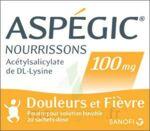 ASPEGIC NOURRISSONS 100 mg, poudre pour solution buvable en sachet-dose à BISCARROSSE
