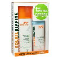 COFFRET SOLEILBIAFINE LAIT SPRAY SOLAIRE SPF50+ 200ML + APRES SOLEIL 50ML OFFERT à BISCARROSSE