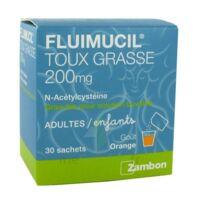 FLUIMUCIL EXPECTORANT ACETYLCYSTEINE 200 mg SANS SUCRE, granulés pour solution buvable en sachet édulcorés à l'aspartam et au sorbitol à BISCARROSSE