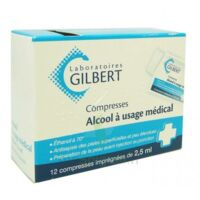 ALCOOL A USAGE MEDICAL GILBERT 2,5 ml, compresse imprégnée à BISCARROSSE