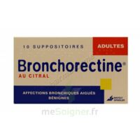 BRONCHORECTINE AU CITRAL ADULTES, suppositoire à BISCARROSSE