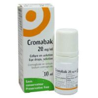 CROMABAK 20 mg/ml, collyre en solution à BISCARROSSE